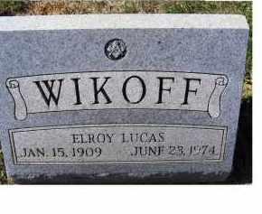WIKOFF, ELROY LUCAS - Adams County, Ohio   ELROY LUCAS WIKOFF - Ohio Gravestone Photos