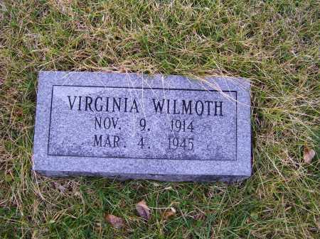 WILMOTH, VIRGINIA - Adams County, Ohio   VIRGINIA WILMOTH - Ohio Gravestone Photos