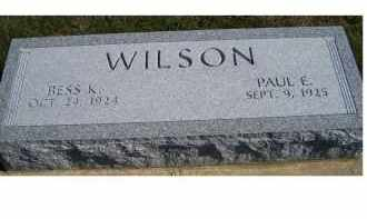 WILSON, BESS K. - Adams County, Ohio | BESS K. WILSON - Ohio Gravestone Photos