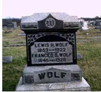 WOLF, LEWIS H. - Adams County, Ohio | LEWIS H. WOLF - Ohio Gravestone Photos