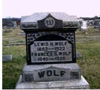 WOLF, FRANCES S. - Adams County, Ohio | FRANCES S. WOLF - Ohio Gravestone Photos