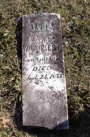WRIGHT, JANE - Adams County, Ohio | JANE WRIGHT - Ohio Gravestone Photos