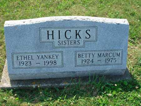 HICKS MARCUM, BETTY - Adams County, Ohio | BETTY HICKS MARCUM - Ohio Gravestone Photos