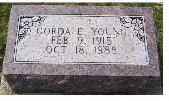 YOUNG, CORDA E. - Adams County, Ohio | CORDA E. YOUNG - Ohio Gravestone Photos