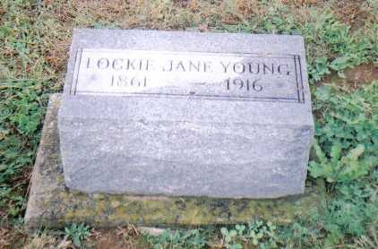 YOUNG, LOCKIE JANE - Adams County, Ohio | LOCKIE JANE YOUNG - Ohio Gravestone Photos