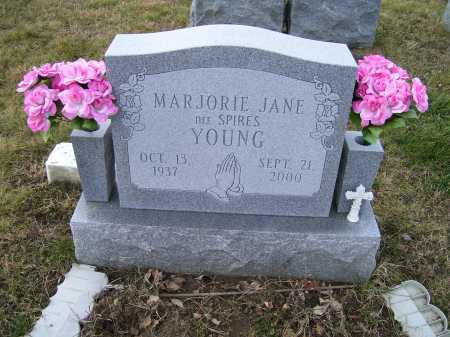 SPIRES YOUNG, MARJORIE JANE - Adams County, Ohio | MARJORIE JANE SPIRES YOUNG - Ohio Gravestone Photos