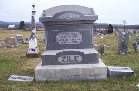 ZILE, CAROLINE - Adams County, Ohio | CAROLINE ZILE - Ohio Gravestone Photos