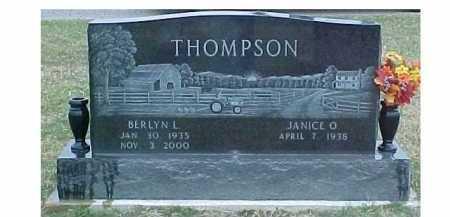 THOMPSON, BERLYN L. - Adams County, Ohio | BERLYN L. THOMPSON - Ohio Gravestone Photos