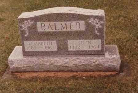 INNIGER BALMER, ELIZABETH - Allen County, Ohio   ELIZABETH INNIGER BALMER - Ohio Gravestone Photos