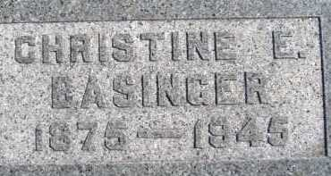 BASINGER, CHRISTINE E. - Allen County, Ohio | CHRISTINE E. BASINGER - Ohio Gravestone Photos