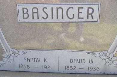 BASINGER, FANNY K. - Allen County, Ohio | FANNY K. BASINGER - Ohio Gravestone Photos