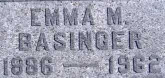 BASINGER, EMMA M. - Allen County, Ohio | EMMA M. BASINGER - Ohio Gravestone Photos