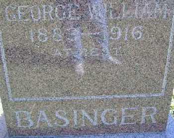 BASINGER, GEORGE WILLIAM - Allen County, Ohio | GEORGE WILLIAM BASINGER - Ohio Gravestone Photos