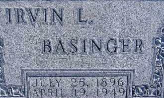 BASINGER, IRVIN L. - Allen County, Ohio   IRVIN L. BASINGER - Ohio Gravestone Photos