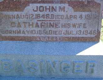 BASINGER, JOHN M. - Allen County, Ohio | JOHN M. BASINGER - Ohio Gravestone Photos