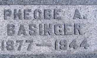 BASINGER, PHEOBE A. - Allen County, Ohio   PHEOBE A. BASINGER - Ohio Gravestone Photos