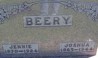 BEERY, JENNIE - Allen County, Ohio | JENNIE BEERY - Ohio Gravestone Photos