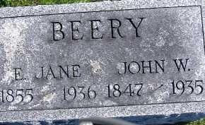 BEERY, JOHN W. - Allen County, Ohio | JOHN W. BEERY - Ohio Gravestone Photos