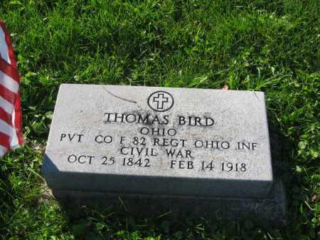 BIRD, THOMAS - Allen County, Ohio   THOMAS BIRD - Ohio Gravestone Photos