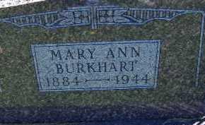 BURKHART, MARY ANN - Allen County, Ohio | MARY ANN BURKHART - Ohio Gravestone Photos