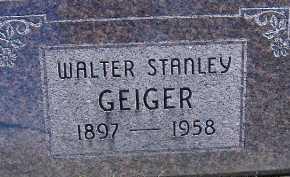 GEIGER, WALTER STANLEY - Allen County, Ohio   WALTER STANLEY GEIGER - Ohio Gravestone Photos