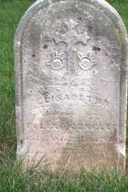 GENGLER, ELIZABETH KATHERINE - Allen County, Ohio | ELIZABETH KATHERINE GENGLER - Ohio Gravestone Photos