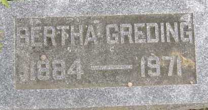 GREDING, BERTHA - Allen County, Ohio | BERTHA GREDING - Ohio Gravestone Photos