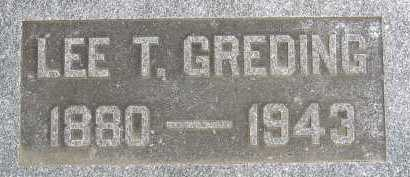 GREDING, LEE T. - Allen County, Ohio | LEE T. GREDING - Ohio Gravestone Photos