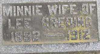 GREDING, MINNIE - Allen County, Ohio   MINNIE GREDING - Ohio Gravestone Photos
