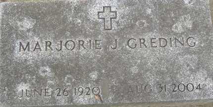 GREDING, MARJORIE J. - Allen County, Ohio | MARJORIE J. GREDING - Ohio Gravestone Photos