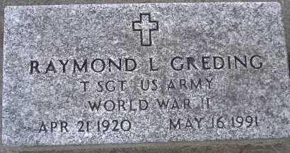 GREDING, RAYMOND L. - Allen County, Ohio   RAYMOND L. GREDING - Ohio Gravestone Photos