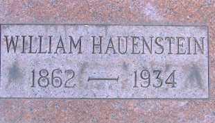HAUENSTEIN, WILLIAM - Allen County, Ohio   WILLIAM HAUENSTEIN - Ohio Gravestone Photos