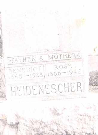 HEIDENESCHER, BENEDICT - Allen County, Ohio   BENEDICT HEIDENESCHER - Ohio Gravestone Photos