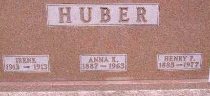 HUBER, IRENE - Allen County, Ohio | IRENE HUBER - Ohio Gravestone Photos