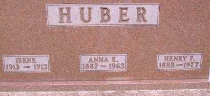 HUBER, ANNA K. - Allen County, Ohio   ANNA K. HUBER - Ohio Gravestone Photos