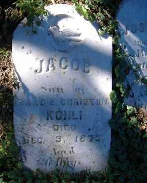 KOHLI, JACOB - Allen County, Ohio | JACOB KOHLI - Ohio Gravestone Photos