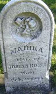 KOHLI, MARIKA - Allen County, Ohio | MARIKA KOHLI - Ohio Gravestone Photos