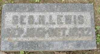 LEWIS, GEORGE H. - Allen County, Ohio   GEORGE H. LEWIS - Ohio Gravestone Photos
