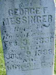 MESSINGER, GEORGE F. - Allen County, Ohio | GEORGE F. MESSINGER - Ohio Gravestone Photos