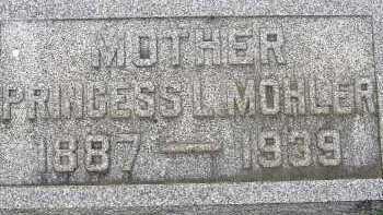 MOHLER, PRINCESS L. - Allen County, Ohio | PRINCESS L. MOHLER - Ohio Gravestone Photos