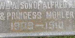MOHLER, WILLIAM A. - Allen County, Ohio | WILLIAM A. MOHLER - Ohio Gravestone Photos