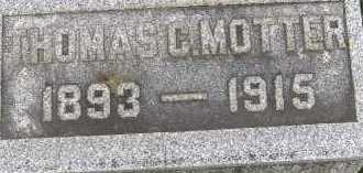 MOTTER, THOMAS C. - Allen County, Ohio   THOMAS C. MOTTER - Ohio Gravestone Photos