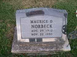 NORBECK, MAURICE D. - Allen County, Ohio | MAURICE D. NORBECK - Ohio Gravestone Photos