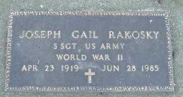 RAKOSKY, JOSEPH GAIL - Allen County, Ohio | JOSEPH GAIL RAKOSKY - Ohio Gravestone Photos