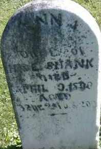 SHANK, ANNA - Allen County, Ohio   ANNA SHANK - Ohio Gravestone Photos