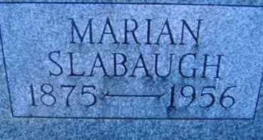 SLABAUGH, MARIAN - Allen County, Ohio | MARIAN SLABAUGH - Ohio Gravestone Photos