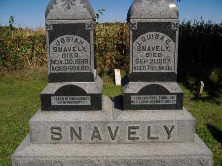 SNAVELY, LOUISA - Allen County, Ohio | LOUISA SNAVELY - Ohio Gravestone Photos