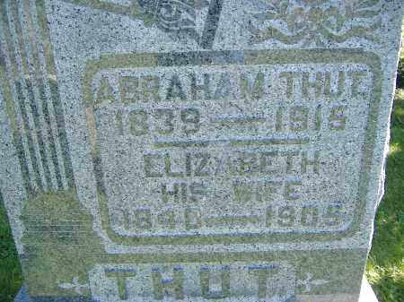 THUT, ELIZABETH - Allen County, Ohio   ELIZABETH THUT - Ohio Gravestone Photos