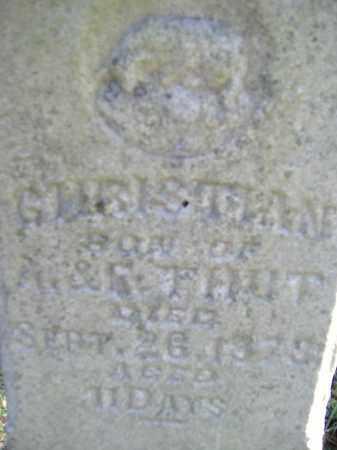 THUT, CHRISTIAN - Allen County, Ohio   CHRISTIAN THUT - Ohio Gravestone Photos
