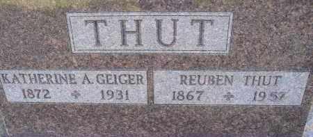 GEIGER THUT, KATERINE - Allen County, Ohio | KATERINE GEIGER THUT - Ohio Gravestone Photos